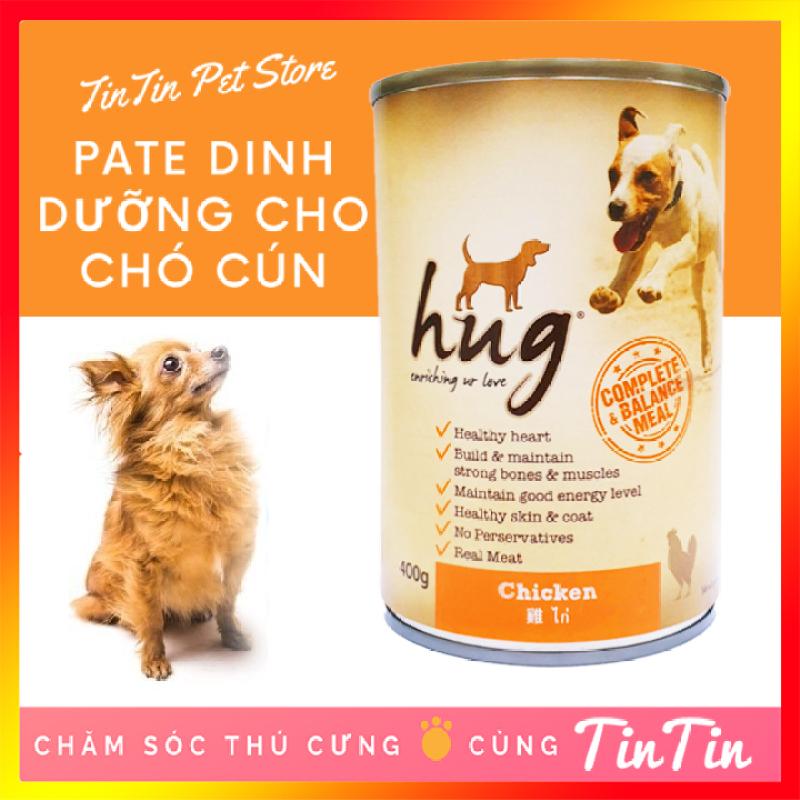 Pate Dinh Dưỡng Cho Chó HUG Lon 400 Gram