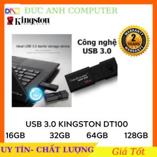 USB Kingston DT100G3 USB 3.0 16GB 32GB 64GB- Bảo Hành 2 Năm- 1 Đổi 1 - Tốc Độ Cao- Chính Hãng 100% thumbnail