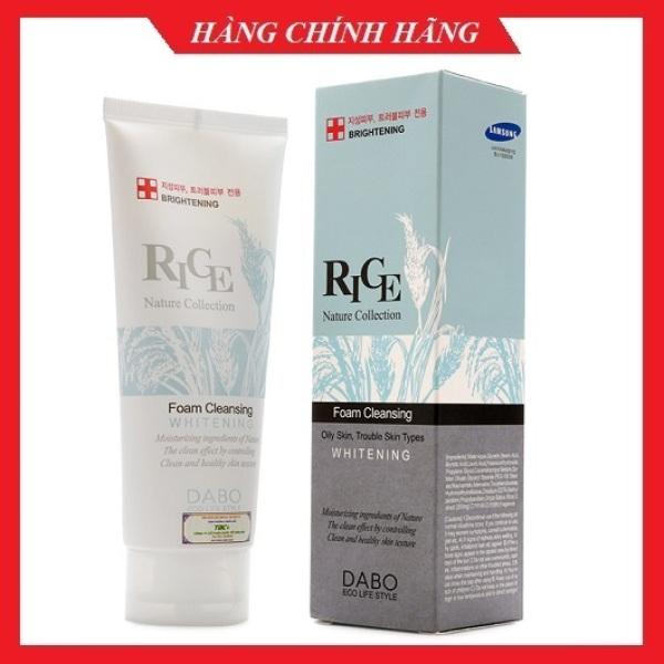 Sữa rửa mặt gạo DABO RICE Hàn quốc 150ml/Hộp dưỡng trắng da, loại bỏ mụn và dầu nhờn