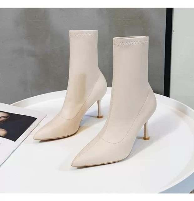 (Bảo hành 12 tháng) Giày boot nữ cổ cao gót mảnh cao cấp - Boot cao gót 8cm - Boot nữ da mềm gồm 3 màu - Boot cao cấp nữ - Linus LN228 giá rẻ