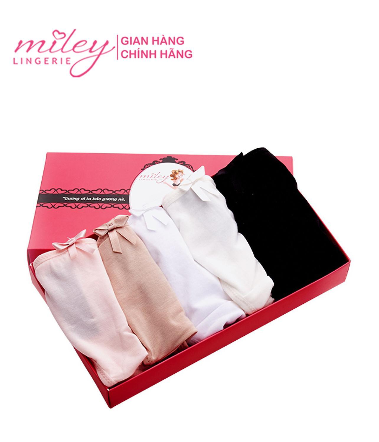 Hộp Quà Tặng Quần Lót Nữ Modal Bikini Comfort Miley Lingerie (Combo 5 Quần) Giá Tốt Không Thể Bỏ Qua