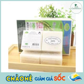 Combo 3 Miếng Xà Phòng Cám Gạo Sạch Mụn, Trắng Da Thái Lan JAM RICE MILK SOAP thumbnail