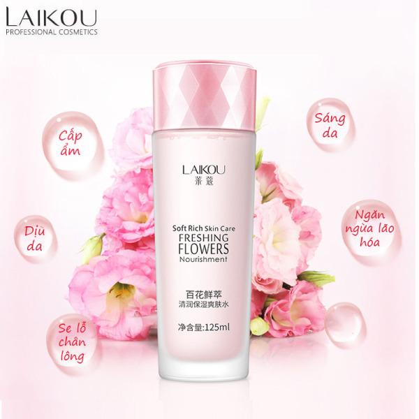 Nước cân bằng da Laikou dưỡng ẩm và se khít lỗ chân lông nước hoa hồng toner cấp ẩm da XP-TN021