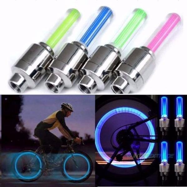 Bộ 2 đèn LED gắn van bánh xe đạp, xe máy, xe ô tô phát sáng khi chuyển bánh
