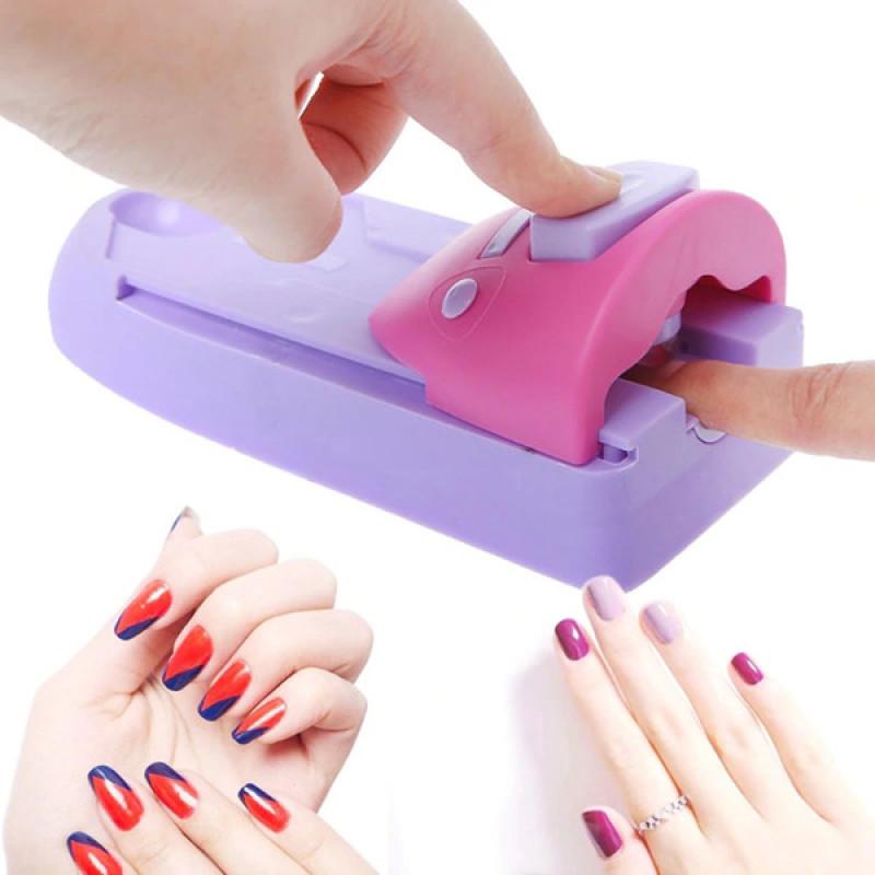 [TẶNG KÈM 7 LỌ NHŨ HOA] Máy làm móng - Máy vẽ móng tay - Máy in móng tay siêu tốc Nail Colors - Dụng cụ làm móng - Máy in móng tay 3d