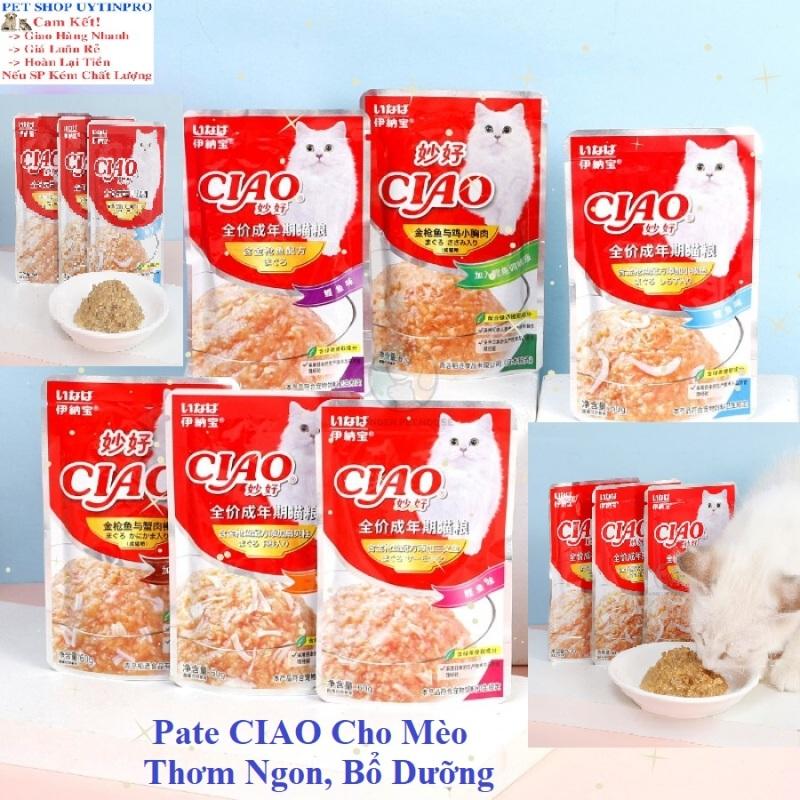 Pate CIAO Cho Mèo Gói 60g Thơm ngon bổ dưỡng