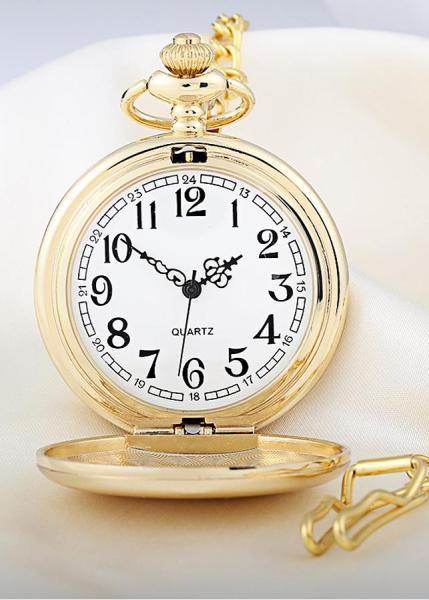 Nơi bán Đồng hồ quả quýt INOX Vàng trơn: Thiết kế hoài cổ - Lịch lãm (Quaquyt.V1)