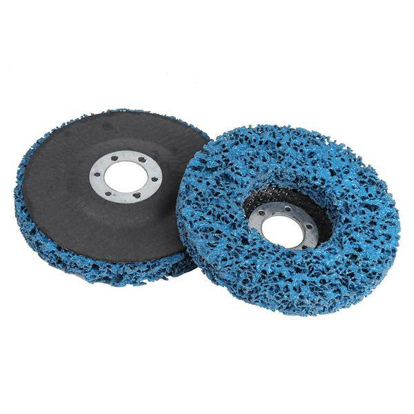 2Pcs 100X16Mm Poly Strip Disc Abrasive Wheel Paint Rust Removal Clean for Angle Grinder