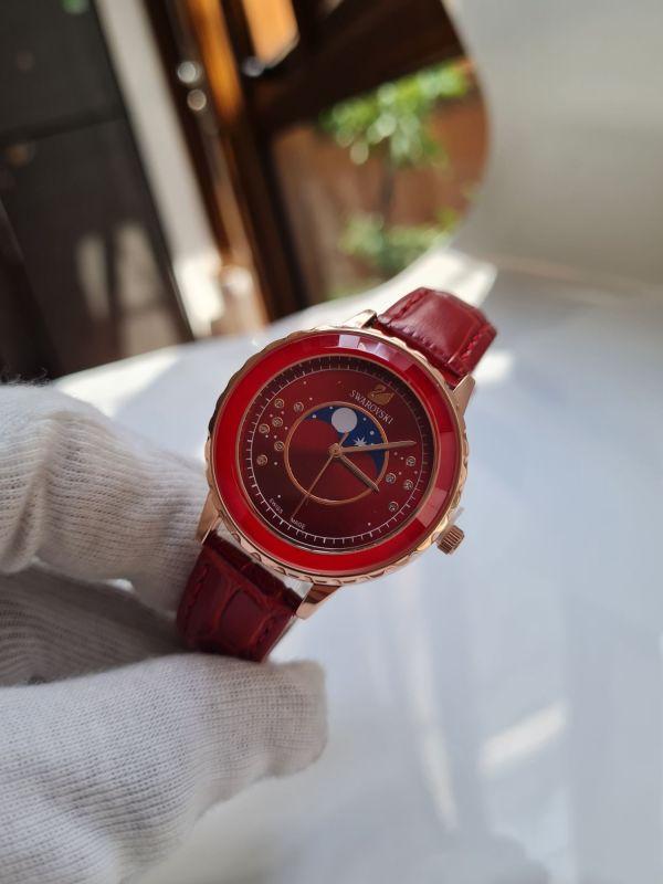 Đồng hồ nữ 30mm dây đỏ chống nước máy nhật bán chạy