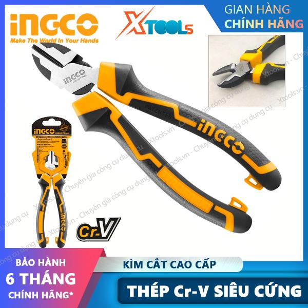 [HCM]Kìm cắt cách điện cao cấp INGCO 6 7 Kềm cắt đứt chất liệu thép CrV chống rỉ sét siêu cứng tay cầm cao su mềm cắt dây điện cáp thép sắt [XTOOLs][XSAFE]