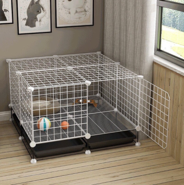 {SỈ SLL} COMBO Chuồng Chó Mèo tự lắp ghép thông minh ( có chân , tặng khay vệ sinh , tặng chốt)