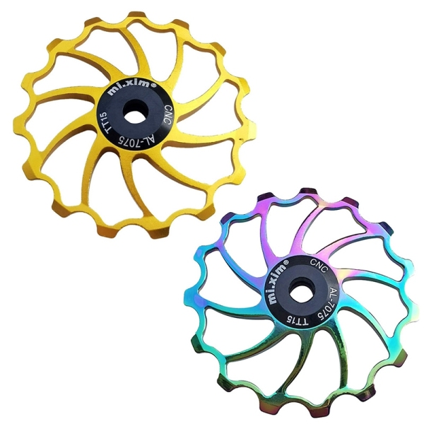 Mua Mi.Xim 2 Pcs Bike Pulley 15T Aluminum Jockey Wheel Bike Guide Roller for MTB Road Bike Folding Bike, Gold & Colorful