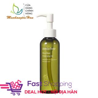 [BILL HÀN] Dầu tẩy trang dưỡng ẩm từ olive innisfree Olive Real Cleansing Oil 150ml thumbnail