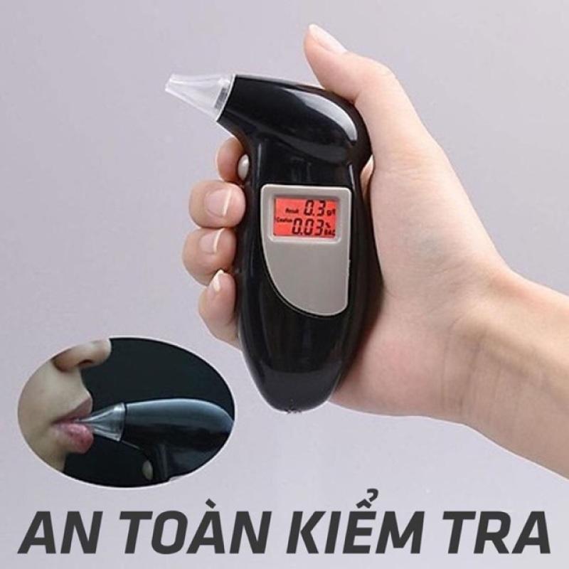 Máy đo nồng độ cồn Alcohol Tester, máy kiểm tra độ cồn trong hơi thở cầm tay LCD chất lượng, đo nhanh, tự kiểm tra độ cồn tại chỗ, bảo đảm an toàn trước khi lái xe (tặng kèm Pin và 4 ống thổi)