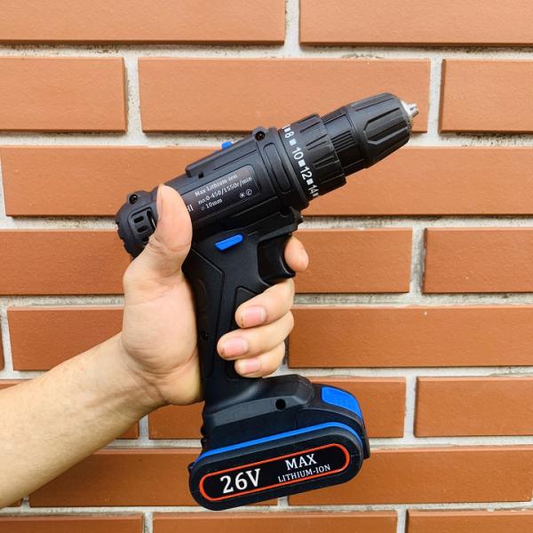 Khoan pin 26v Tặng 4 mũi khoan + bắt vít - Khoan pin 26V