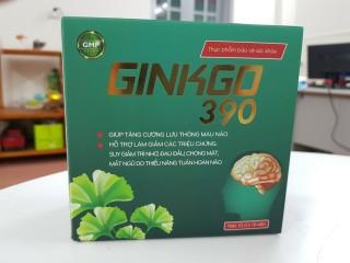 Viên Uống Bổ Não Ginkgo 390 giúp bổ não, tăng cường tuần hoàn não, lưu thông mạch máu não,giảm đau đầu, hoa mắt, chóng mặt, mất ngủ thumbnail