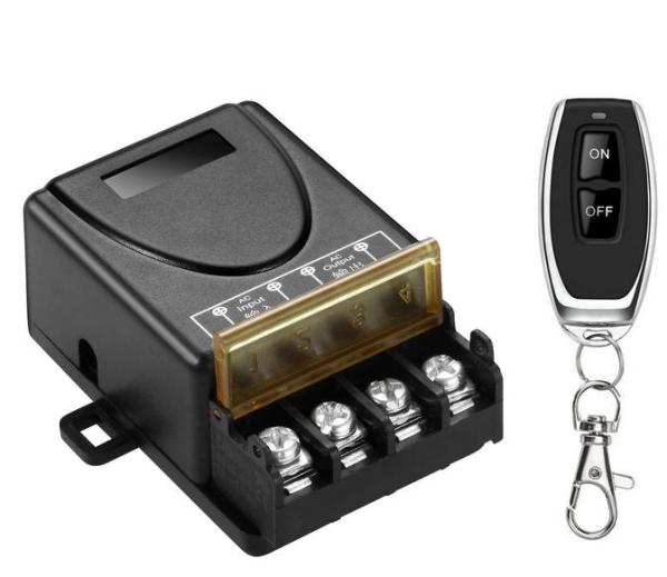Công tắc điều khiển từ xa 100M xuyên tường SMH công suất lớn 30A (3000W)/ điện áp 110-220V (Đen)