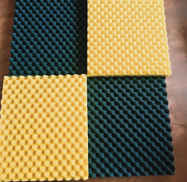 set 10 Tấm mút tiêu âm hình trứng .màu đỏ vàng xanh đen-kt 50 x 50cm dày 3cm. Mã981929926 (Được chọn màu)