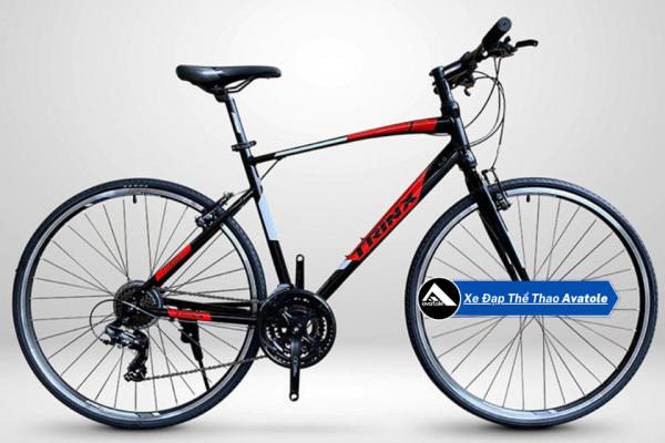 Mua Xe đạp đường trường TrinX Free 1.0, Khung sườn Hợp Kim Nhôm TRINX Alloy 700C×470, 510MM, Trọng lượng 13.2kg, Hệ thống truyền động Shimano - 21 Speed, Vành bánh 700X32C, Màu Xám Đỏ Đen
