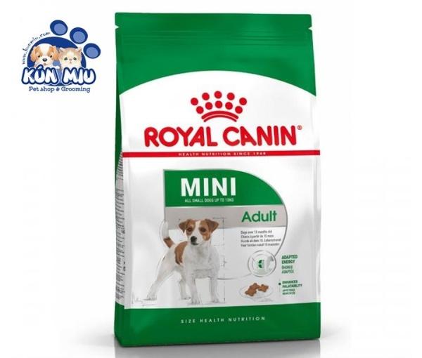 Thức ăn cho chó cân nặng dưới 10kg và trên 10 tháng Royal canin Mini Adult 2kg