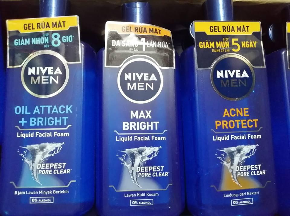 Gel rửa mặt nam Nivea 150ml