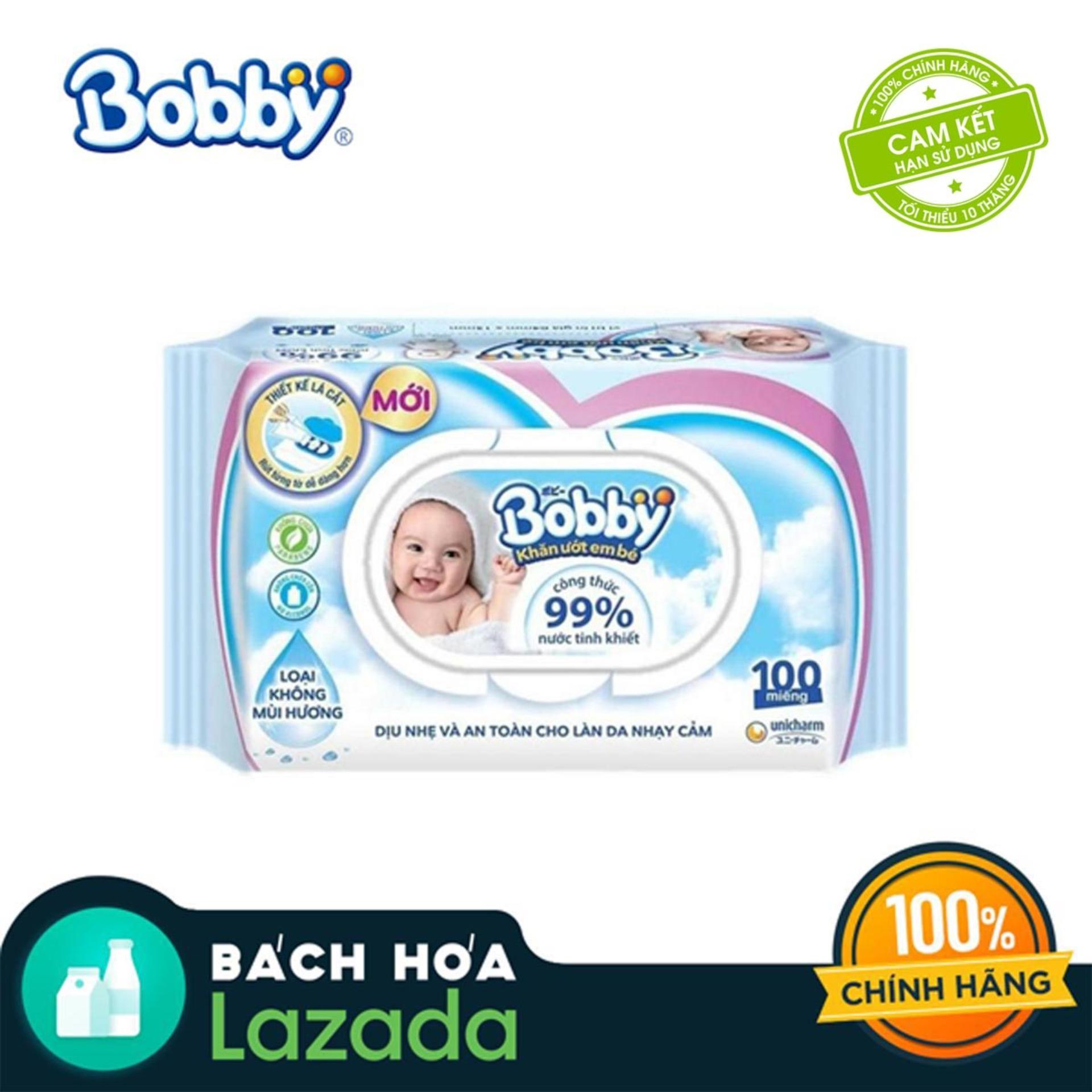 Khăn ướt trẻ em Bobby Care không mùi hương gói...