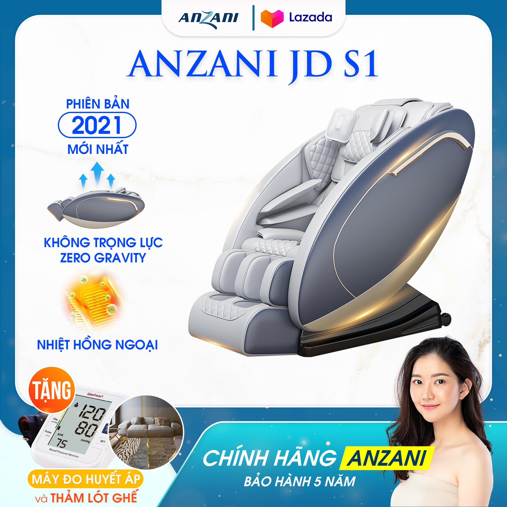 Ghế massage Anzani JD S1 mát xa toàn thân 12 túi khí với chế độ nhiệt hồng ngoại và công nghệ không trọng lực