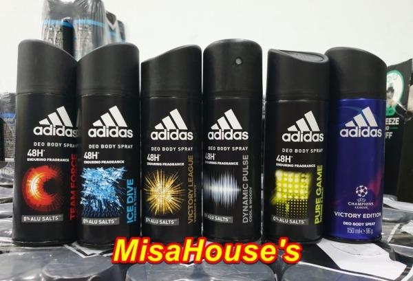 Bộ 3 Xịt khử mùi toàn thân cho nam Adidas - 150 ml x 3 (mùi ngẫu nhiên) giá rẻ