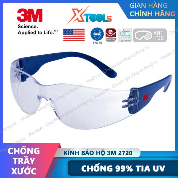 Giá bán Kính bảo hộ 3M 2720 Kính chống bụi, tia UV, mắt kính trong suốt, bảo vệ mắt, chống trầy xước, đọng hơi nước, đi xe máy [XTOOLs][XSAFE]