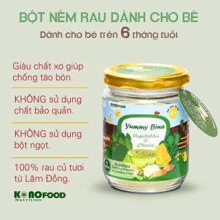Bột nêm Rau & Phô mai dành cho bé ăn dặm KONOFOOD 100g - Được làm từ rau BINA, bổ sung Chất xơ cho bé từ 6 tháng tuổi. thumbnail