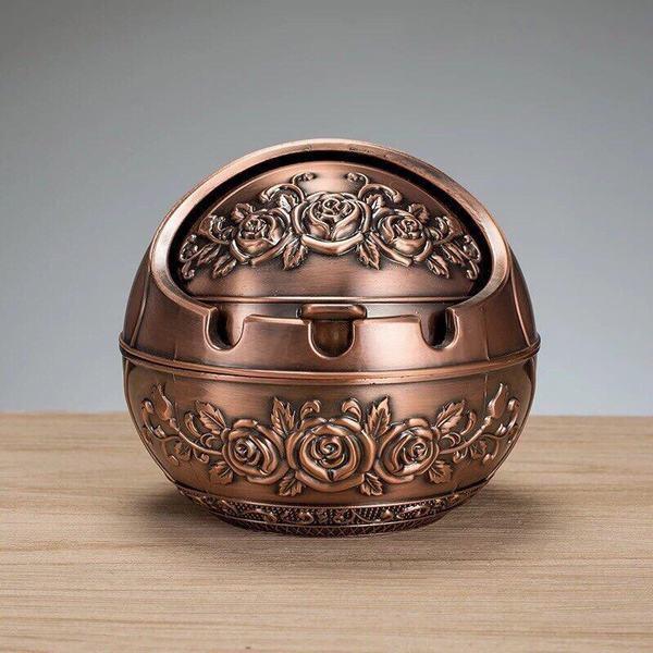 Gạt tàn hợp kim tròn (màu Đồng cổ)