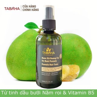 Chai Xịt Tinh Dầu Bưởi 5 roi và Vitamin B5 Pomelo Tabaha 120ml ngăn rụng tóc thumbnail