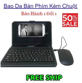 Bao Da Bàn Phím Có Chuột Cho Điện Thoại Smartphone Android Từ 4.5 - 8 inch Chất Lượng Cao, Tiện Ích Cho Điện Thoại - BH 12 THÁNG thumbnail