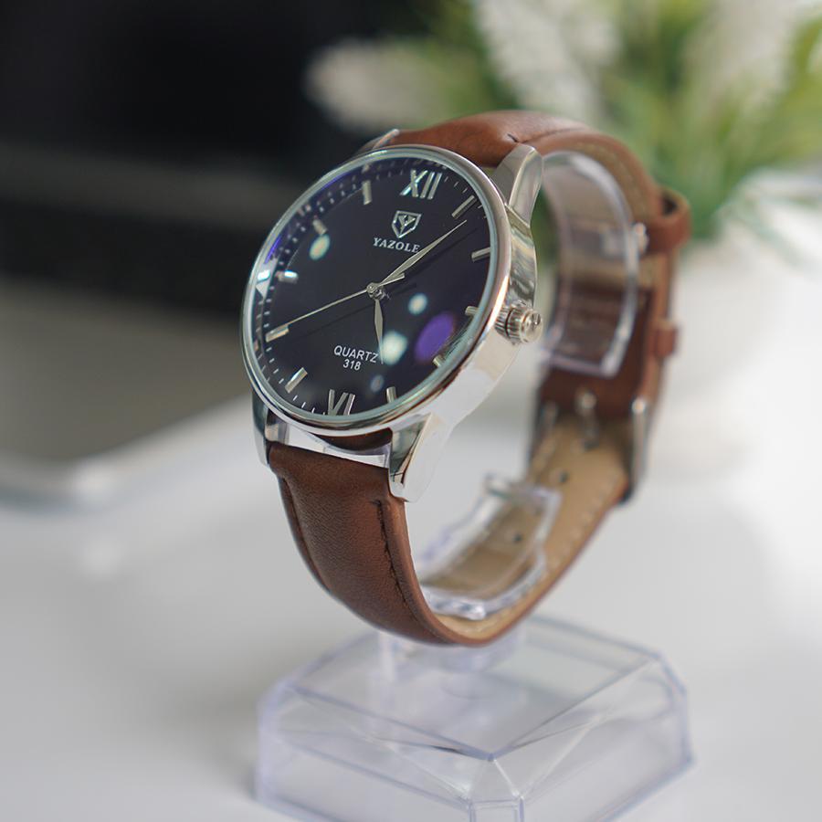 Đồng hồ Nam - Đồng hồ thời trang Yazole - S01 (Nâu, Đen)