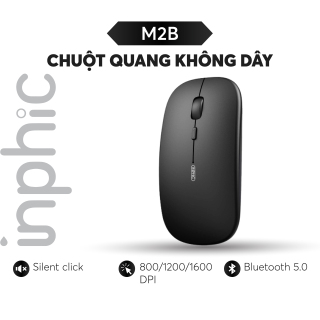 Chuột bluetooth Inphic M2B Bluetooth 5.0 phong cách Macbook - Có thể sạc lại - Hàng phân phối chính hãng - Bảo hành 12 tháng 1 đổi 1 thumbnail