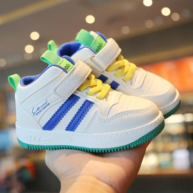 Giày trẻ em cao cấp chất liệu da PU đế lót lớp lông mền mại, thoáng khí tốt phong cách Hàn Quốc dành cho bé 1-14 tuổi giá rẻ