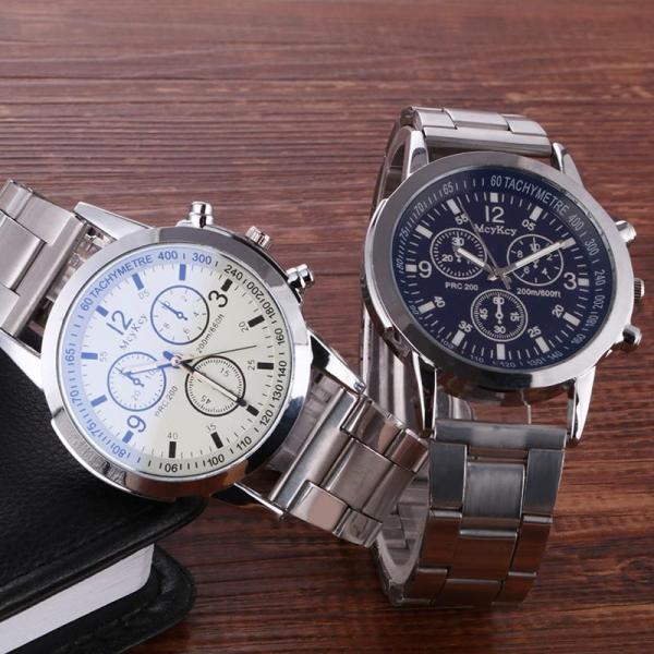 Đồng hồ thời trang nam Mcykey dây kim loại MS783