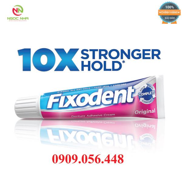 Keo dán hàm răng giả hàm tháo lắp Fixodent 68g, hàng chính hãng/ Fixodent Denture Adhesive giá rẻ