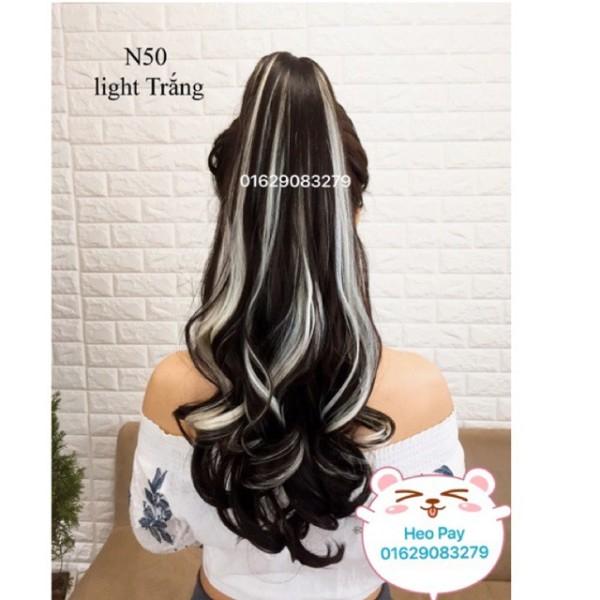 tóc giả uốn đẹp 🎁 FREESHIP 🎁tóc giả line bạch kim - n50