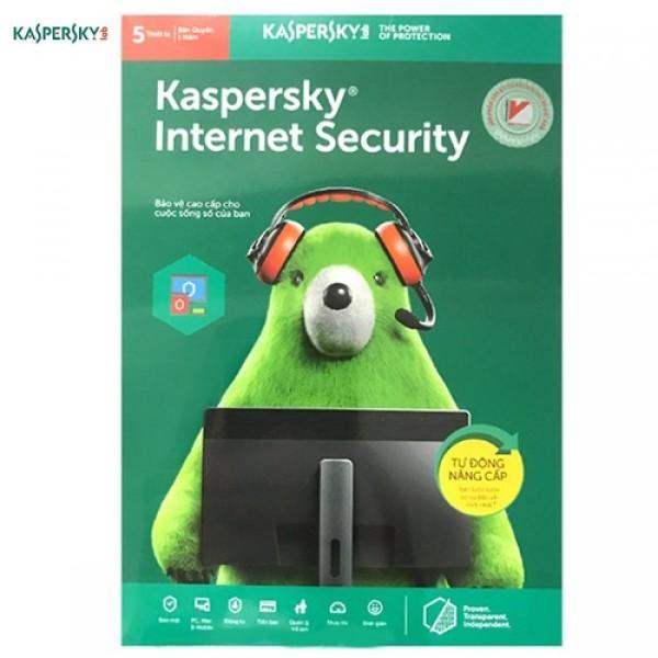 Bảng giá Phần mềm Kaspersky Internet Security - 5PC/1Năm Phong Vũ