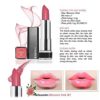 Son môi lâu trôi nhiều dưỡng Beauskin Crystal Lipstick No.7 3.5g (Hồng đào) thumbnail