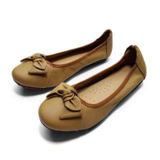 Giày Bệt Nữ Xinh Da Bò Thật Siêu Mềm Evelynv GB05LG (Đen - Kem)