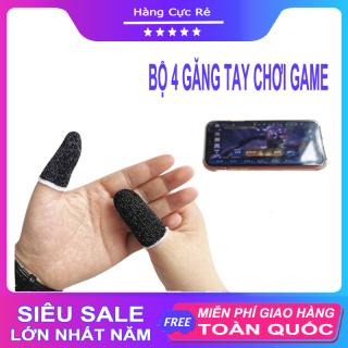 Bộ 4 bao tay chơi game điện thoại, gồm 2 cặp găng tay chơi game, ff, pubg, liên quân mobile, chống ra mồ hôi tay, tăng độ nhạy Shop Hàng Cực Rẻ thumbnail