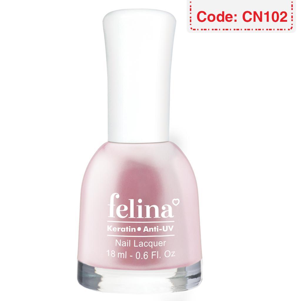 Sơn móng tay Felina 18ml - Màu Ngọc Trai Hồng - Code CN102 tốt nhất