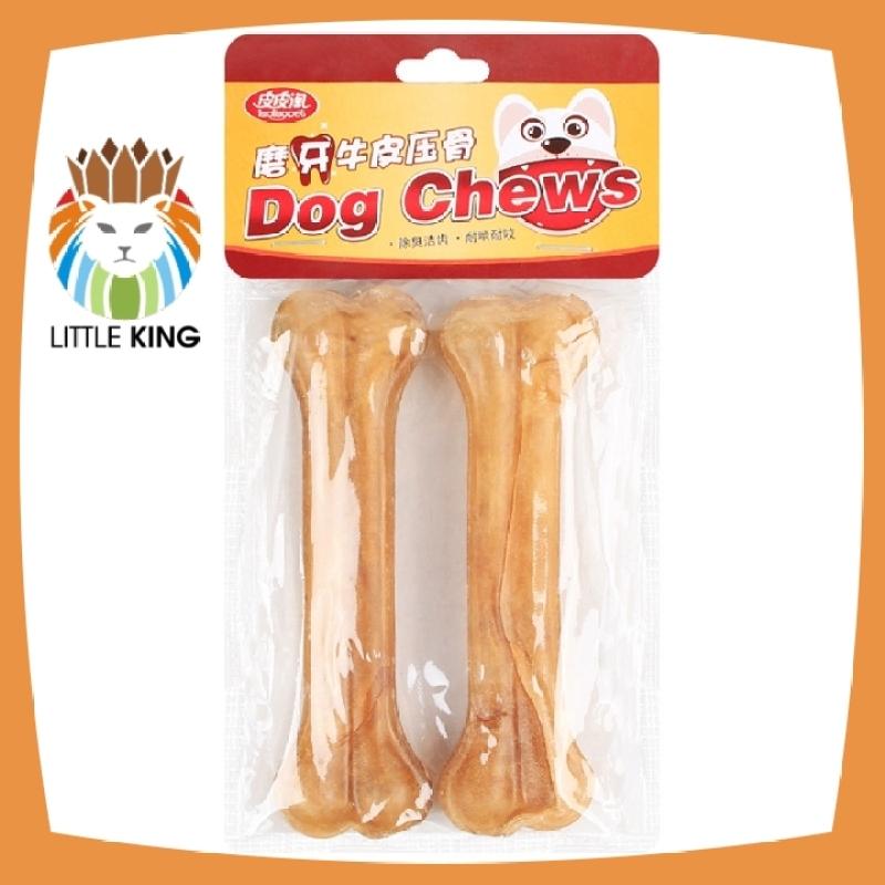 Xương gặm cho chó làm từ da bò giúp làm sạch răng, răng chắc khỏe kích cỡ 12cm * 2 thanh - Little King pet shop