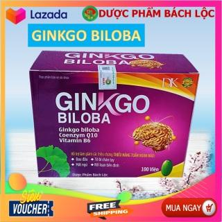 Viên Uống Bổ Não Ginkgo Biloba Coenzym Q10, Vitamin B6 giúp bổ não, tăng cường tuần hoàn não, lưu thông mạch máu não,giảm đau đầu, hoa mắt, chóng mặt, mất ngủ thumbnail