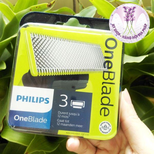 Philips - Lưỡi dao cạo râu Oneblade QP230/50- Set 3 lưỡi [Sản xuất tại Hà Lan]