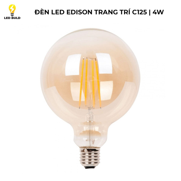Đèn led Edison 4W ánh sáng vàng G125