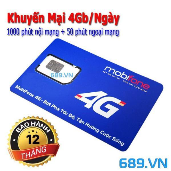 Sim 10 số 4G MOBI C90N Chuẩn Gold. Tặng 120GB và 43.000 phút miễn phí/tháng.