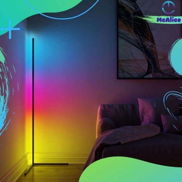 Đèn góc tường, có led RGB, đèn led trang trí góc tường, decor trang trí phòng ngủ phòng khách